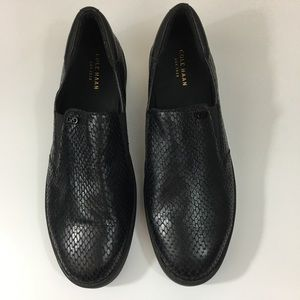 Cole Haan Black Snake Print Slip On Sneakers 9B